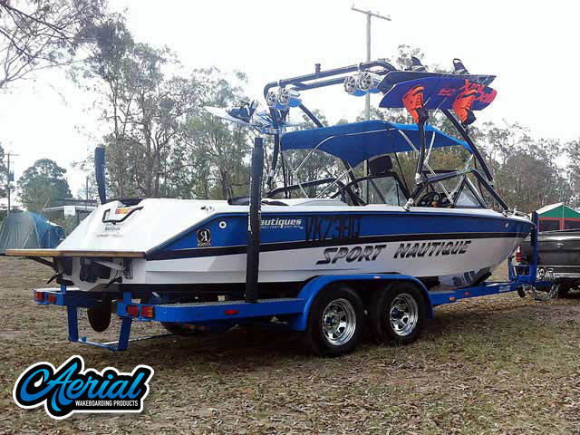 Wakeboard tower for 1994 Sport Nautique boat featuring Aerial's Airborne Tower