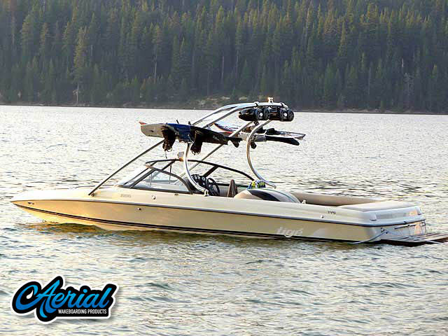 Wakeboard tower for 1999 Tige 2200i boats by Aerial Wakeboard Tower Products