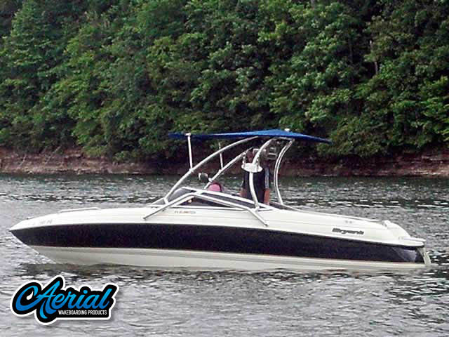 Wakeboard tower for Bryant 212 Limited  with Airborne Tower with Eclipse Bimini