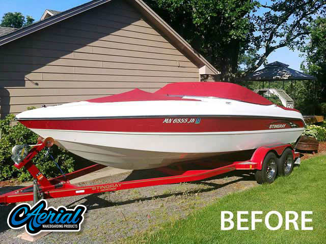 2002 Stingray LX230 Wakeboard Tower, speakers, racks, bimini