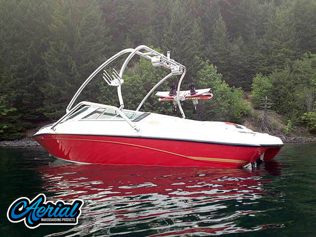 Wakeboard tower for 1993 Crownline 19.5' boat featuring Aerial's Airborne Tower
