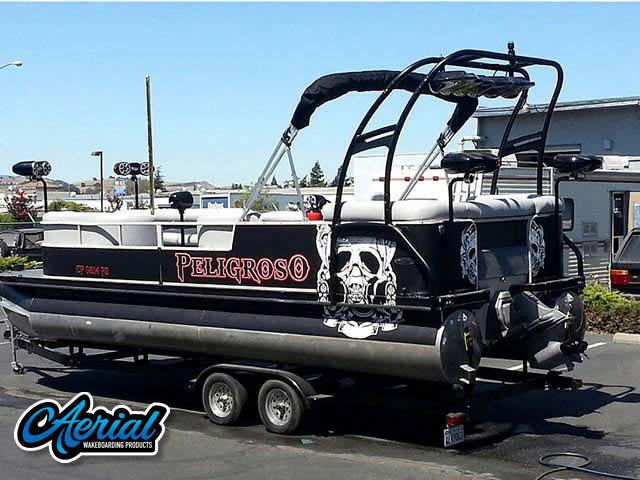 2001 Crestliner 2485 lsi  pontoon boat wakeboard tower
