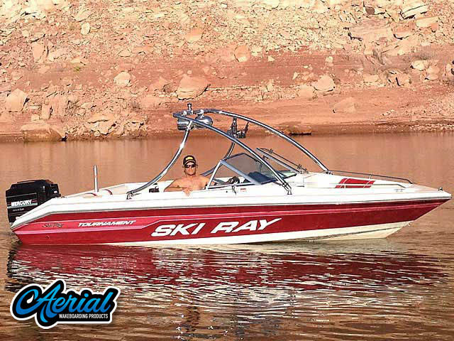 1993 Sea Ray Ski Rat Wakeboard Tower, speakers, racks, bimini