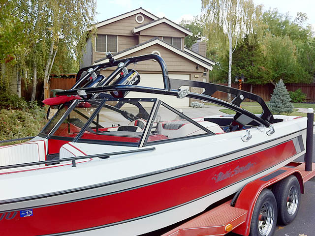 1989 Malibu Sunsetter Wakeboard Tower, speakers, racks, bimini