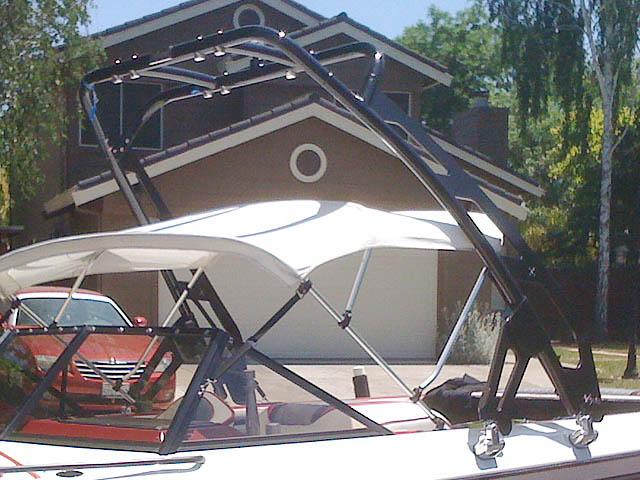 1989 Malibu Sunsetter wakeboard tower, speakers, racks, bimini & lights