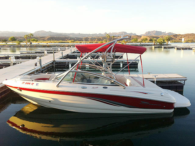 Wakeboard tower for 2005 Chaparral  boat featuring Aerial's Assault Tower