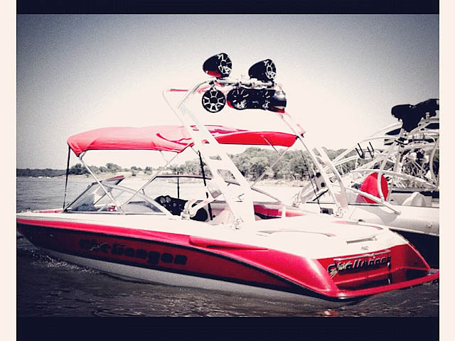 Wakeboard tower for 1996 Ski Challenger with FreeRide Tower