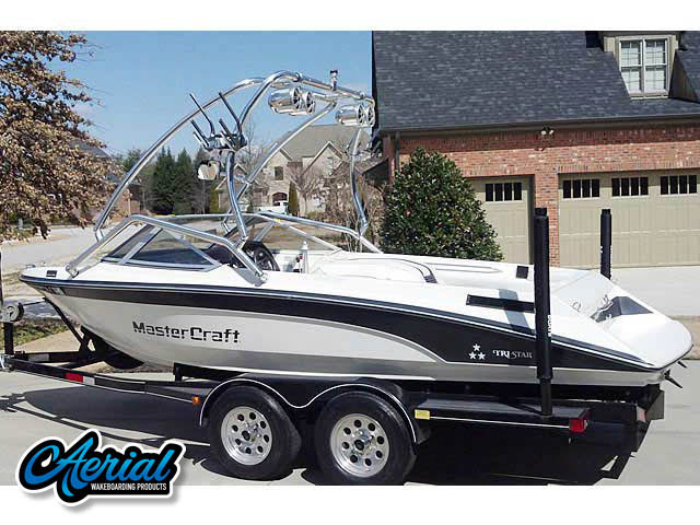 1989 Mastercraft TriStar 190 Wakeboard Tower, speakers, racks, bimini