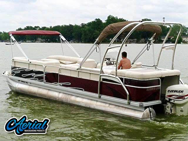 2000 Bennington 2575LX pontoon boat wakeboard tower