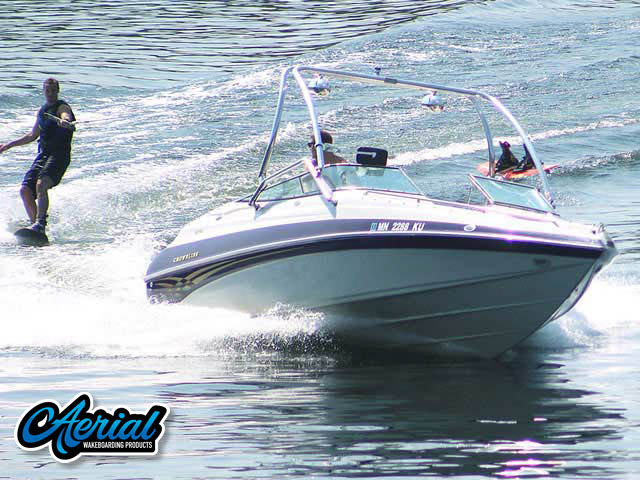 Wakeboard tower for 2000 Crownline BR 266 boat featuring Aerial's Airborne Tower