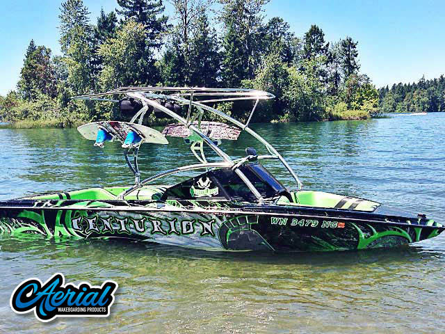Wakeboard tower for 1988 Ski Centurion Falcon with Assault Tower with Eclipse Bimini