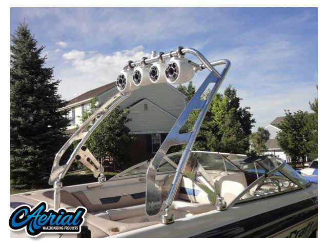 View wakeboard tower and accessories on a 2001 MasterCraft