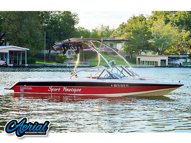 Airborne Tower with Eclipse Bimini Wakeboard Installed on 1991 Sport Nautique Boat