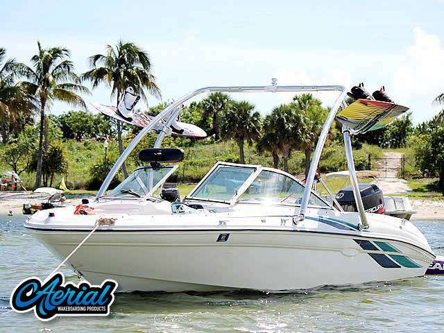 Aerial Ascent Tower on a 1998 Sea Ray 180 Bow Rider boat