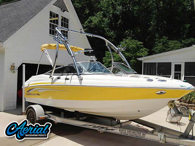 Wakeboard tower for 2008 Chaparral 190 ssi boat featuring Aerial's Ascent Tower