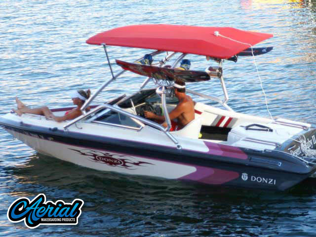 Donzi Wakeboard Tower, speakers, racks, bimini