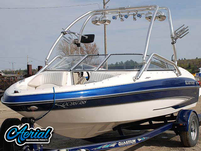 2007 Glastron GXL185 wakeboard tower, speakers, racks, bimini & lights
