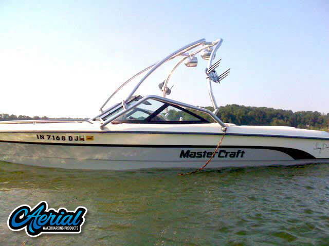 View wakeboard tower and accessories on a MasterCraft ProStar 205 Sammy Duvall Edition