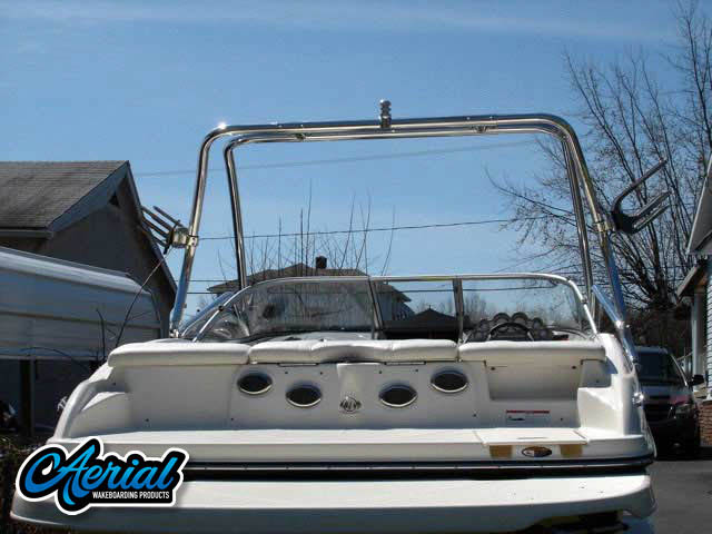 View wakeboard tower and accessories on a 2008 Bayliner 205