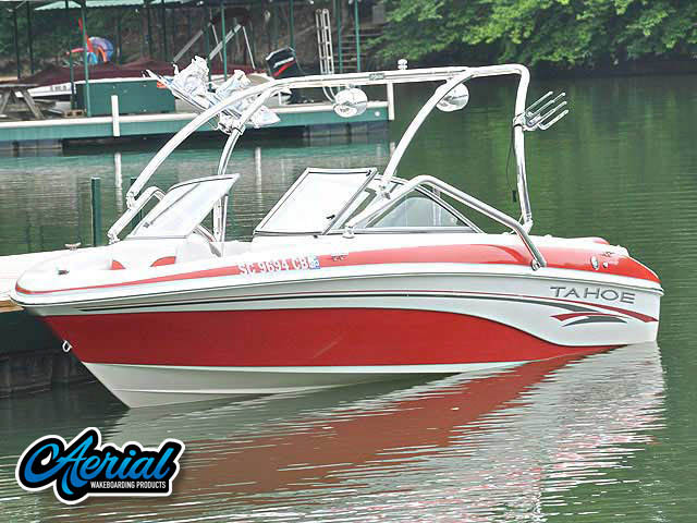 Wakeboard tower for 2006 Tahoe Q6 Sport boat featuring Aerial's Airborne Tower