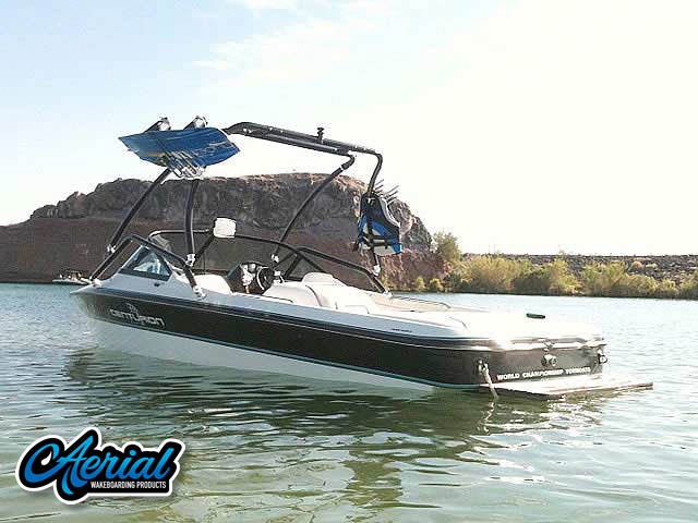 Wakeboard tower for 1996 Ski Centurion Elite Lapointe boat featuring Aerial's Airborne Tower