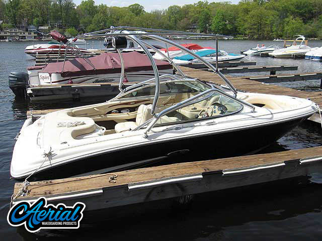 Wakeboard tower for 2002 SeaRay 190 Signature with Airborne Tower with Eclipse Bimini