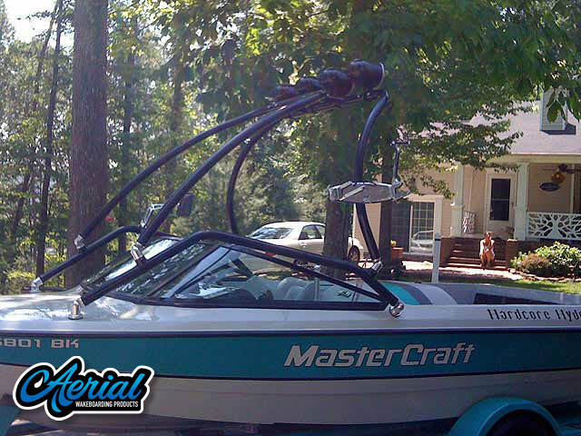 View wakeboard tower and accessories on a MasterCraft