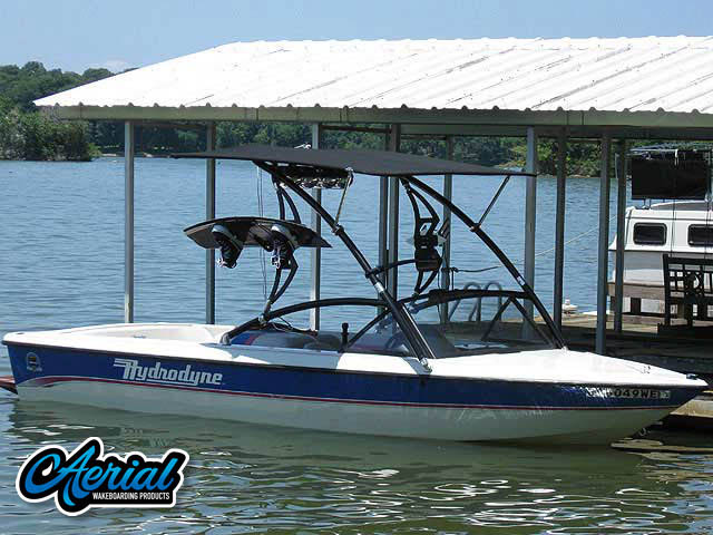 Wakeboard tower for 1993 Hydrodyne Comp with Assault Tower with Eclipse Bimini