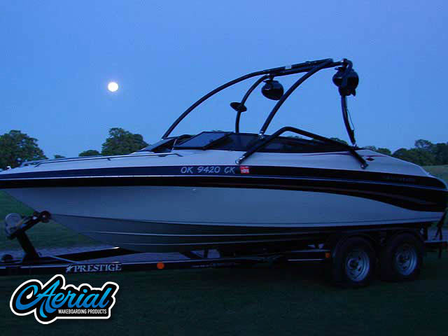 Wakeboard tower for 2001 Crownline 202 boat featuring Aerial's Airborne Tower