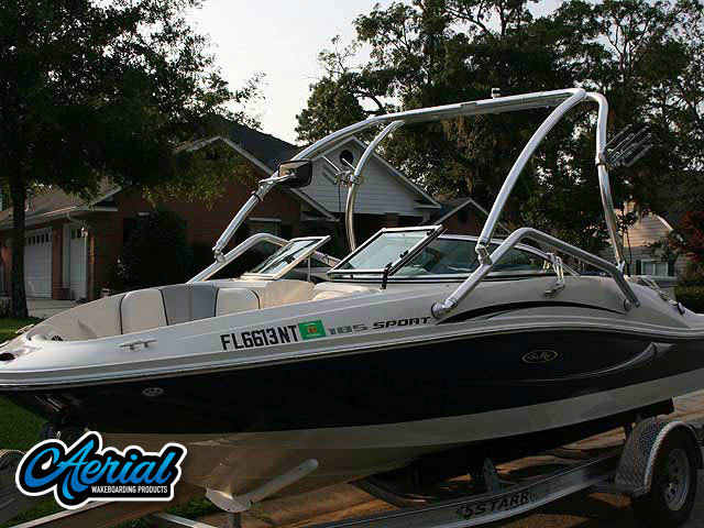 Aerial Airborne Tower on a 2008 Sea Ray 185 Sport boat