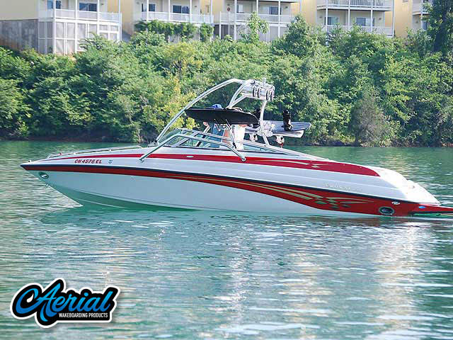 Wakeboard tower for 2000 Crownline 248BR boat featuring Aerial's Airborne Tower