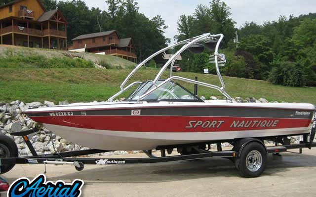 1999 Correct Craft Sport Nautique Wakeboard Tower, speakers, racks, bimini