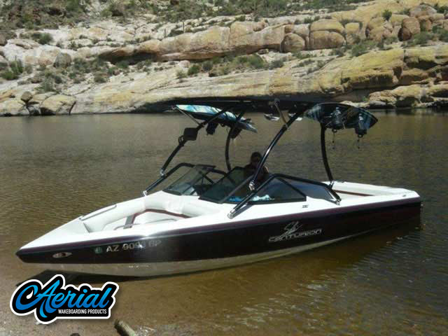 Wakeboard tower for 1999 Ski Centurion Bow Rider boat featuring Aerial's Airborne Tower