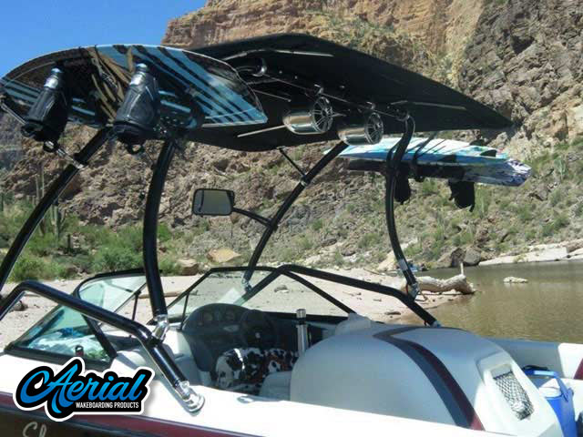 1999 Ski Centurion Bow Rider wakeboard tower, speakers, racks, bimini & lights