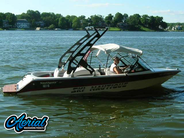 FreeRide Tower Wakeboard Installed on 1995 Ski Nautique Boat