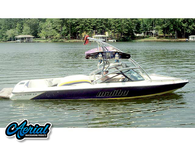 Wakeboard tower for 2003 Malibu Sportster boat featuring Aerial's Assault Tower
