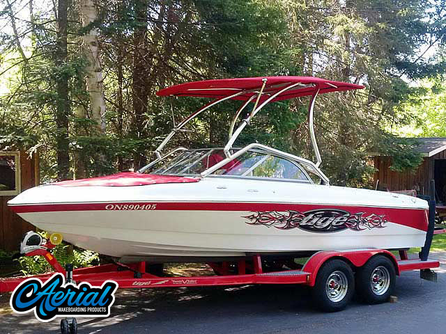 2007 Tige 20i Wakeboard Tower, speakers, racks, bimini