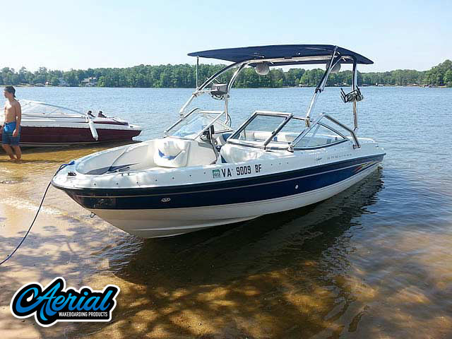 Wakeboard tower for 2005 Bayliner 205 with Airborne Tower with Eclipse Bimini