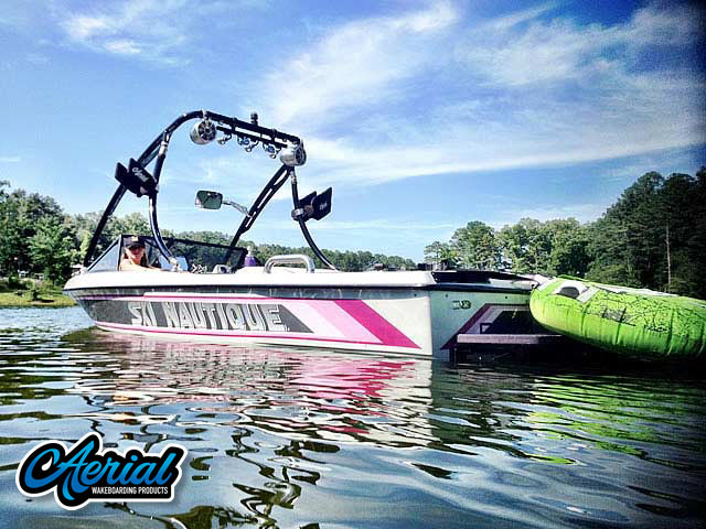 Wakeboard tower for 1988 ski nautique  boat featuring Aerial's Ascent Tower