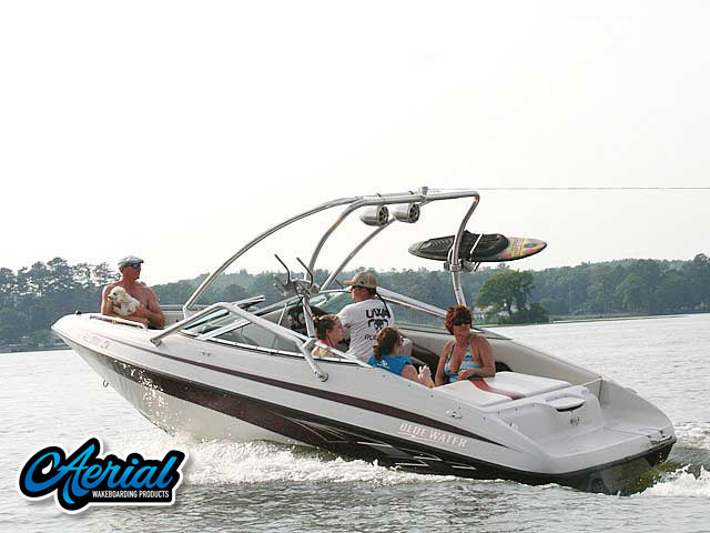Wakeboard tower for 2006, Blue Water 2150 boat featuring Aerial's Airborne Tower