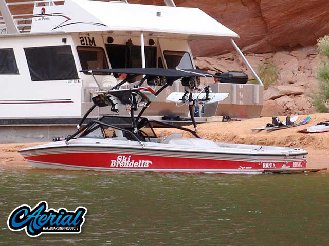Wakeboard tower for 1992 Brendella Pro Comp with Airborne Tower with Eclipse Bimini