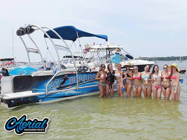 2008 Hurricane Fun Deck pontoon boat wakeboard tower
