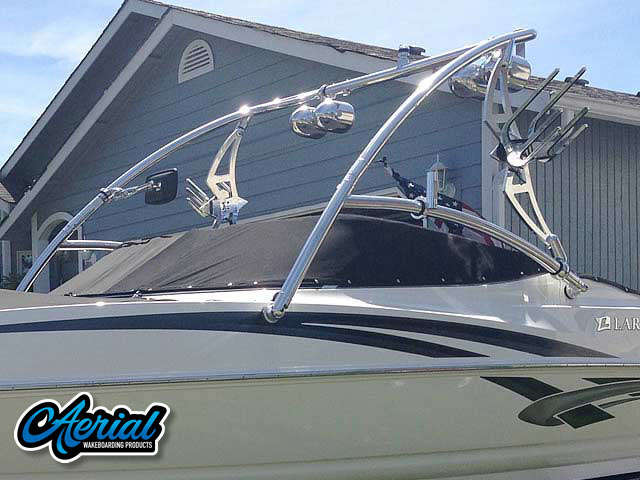 2008,Larson Senza 226 wakeboard tower, speakers, racks, bimini & lights