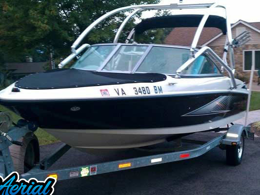 2007 Maxum MX1800 wakeboard tower, speakers, racks, bimini & lights