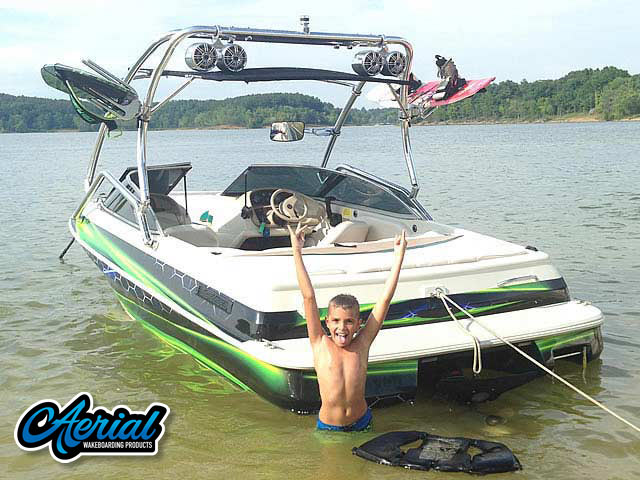 Wakeboard tower for 1996 Sylvan Runabout with Airborne Tower