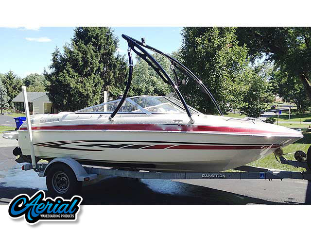 Wakeboard tower for 2008 Glastron GT185 boat featuring Aerial's Ascent Tower