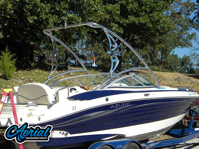 2006 Azure BR238 Wakeboard Tower, speakers, racks, bimini