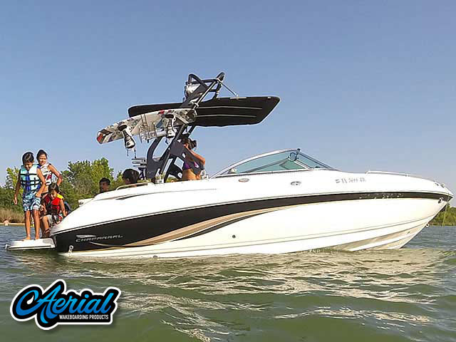Wakeboard tower for 2003, 230 SSI Chaparral  with FreeRide Tower with Bimini