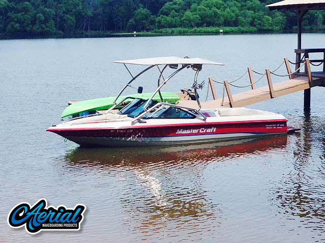 Airborne Tower with Eclipse Bimini Wakeboard Installed on 1994 MasterCraft Prostar 205 Boat