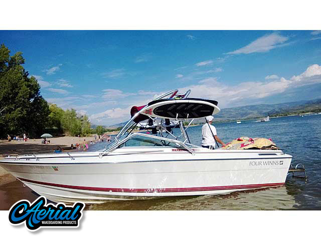 1990 Four Winns 22 ft Wakeboard Tower, speakers, racks, bimini